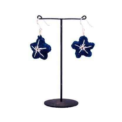 SL E 14 AK BLUE - Star style Earring