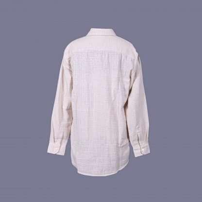 Shirt 04 M L1 Back - Men Cotton Shirt Long Sleeve Small Check